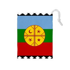 Flag Of The Mapuche People Drawstring Pouches (medium)  by abbeyz71