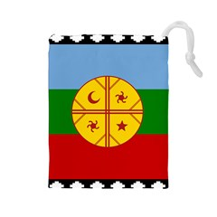 Flag Of The Mapuche People Drawstring Pouches (large)  by abbeyz71