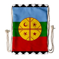 Flag Of The Mapuche People Drawstring Bag (large) by abbeyz71
