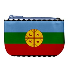 Flag Of The Mapuche People Large Coin Purse by abbeyz71