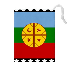 Flag Of The Mapuche People Drawstring Pouches (extra Large) by abbeyz71