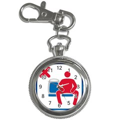 No Manspreading Sign Key Chain Watches by abbeyz71