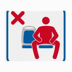 No Manspreading Sign Small Glasses Cloth by abbeyz71