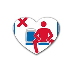 No Manspreading Sign Rubber Coaster (heart)