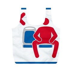 No Manspreading Sign Full Print Recycle Bags (m)  by abbeyz71