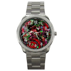 Bloody Coffee 6 Sport Metal Watch by bestdesignintheworld