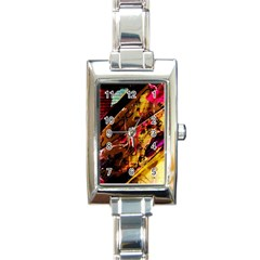 Absurd Theater In And Out 5 Rectangle Italian Charm Watch by bestdesignintheworld