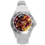 Absurd Theater In And Out 5 Round Plastic Sport Watch (L) Front