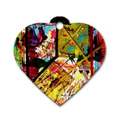 Absurd Theater In And Out Dog Tag Heart (two Sides) by bestdesignintheworld