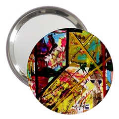 Absurd Theater In And Out 3  Handbag Mirrors by bestdesignintheworld