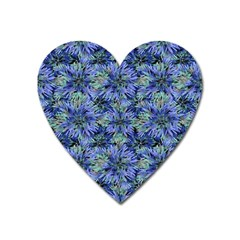 Modern Nature Print Pattern 7200 Heart Magnet by dflcprints