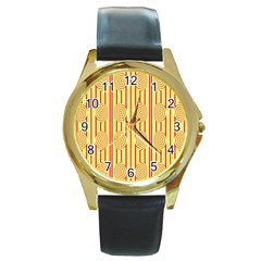 Pattern Factory 4181c Round Gold Metal Watch by MoreColorsinLife