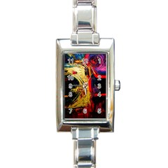 Abandoned Mine 1 Rectangle Italian Charm Watch by bestdesignintheworld