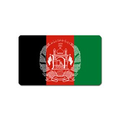 Flag Of Afghanistan Magnet (name Card) by abbeyz71