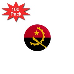 Flag Of Angola 1  Mini Magnets (100 Pack)  by abbeyz71