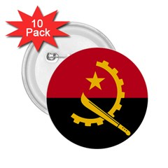Flag Of Angola 2 25  Buttons (10 Pack)  by abbeyz71