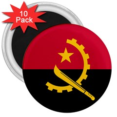 Flag Of Angola 3  Magnets (10 Pack)  by abbeyz71