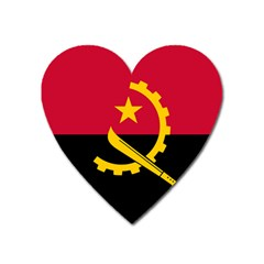 Flag Of Angola Heart Magnet by abbeyz71