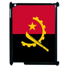 Flag Of Angola Apple Ipad 2 Case (black) by abbeyz71
