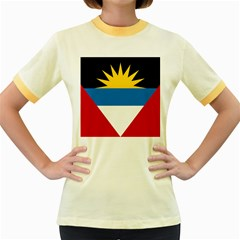 Flag Of Antigua & Barbuda Women s Fitted Ringer T-shirts by abbeyz71