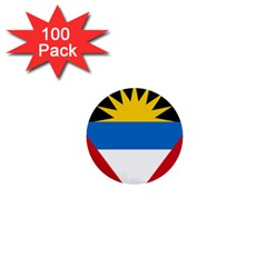 Flag Of Antigua & Barbuda 1  Mini Buttons (100 Pack)  by abbeyz71