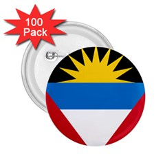 Flag Of Antigua & Barbuda 2 25  Buttons (100 Pack)