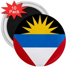Flag Of Antigua & Barbuda 3  Magnets (10 Pack)  by abbeyz71