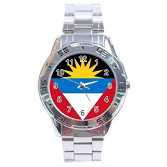Flag Of Antigua & Barbuda Stainless Steel Analogue Watch by abbeyz71