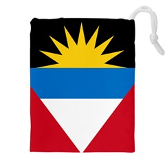 Flag Of Antigua & Barbuda Drawstring Pouches (xxl) by abbeyz71