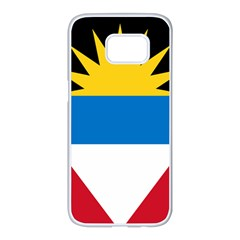 Flag Of Antigua & Barbuda Samsung Galaxy S7 Edge White Seamless Case by abbeyz71