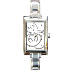 Cat Feline Cute Pet Animal Rectangle Italian Charm Watch by Simbadda