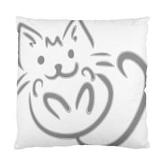 Cat Feline Cute Pet Animal Standard Cushion Case (two Sides) by Simbadda