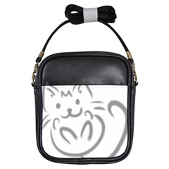 Cat Feline Cute Pet Animal Girls Sling Bags by Simbadda