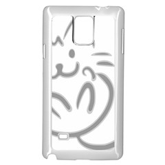 Cat Feline Cute Pet Animal Samsung Galaxy Note 4 Case (white) by Simbadda
