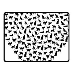 Heart Love Cats Kitten Kitty Fleece Blanket (small) by Simbadda