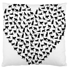 Heart Love Cats Kitten Kitty Standard Flano Cushion Case (one Side)