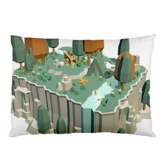Camping Low Poly 3d Polygons Pillow Case by Simbadda