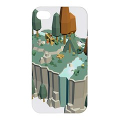 Camping Low Poly 3d Polygons Apple Iphone 4/4s Hardshell Case by Simbadda