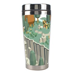 Camping Low Poly 3d Polygons Stainless Steel Travel Tumblers by Simbadda