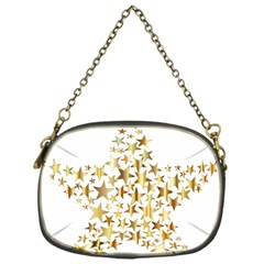 Star Fractal Gold Shiny Metallic Chain Purses (one Side)