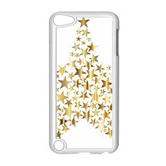 Star Fractal Gold Shiny Metallic Apple Ipod Touch 5 Case (white)