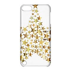 Star Fractal Gold Shiny Metallic Apple Ipod Touch 5 Hardshell Case With Stand by Simbadda