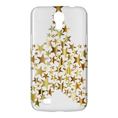 Star Fractal Gold Shiny Metallic Samsung Galaxy Mega 6 3  I9200 Hardshell Case