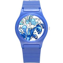 Abstract Colourful Comic Characters Round Plastic Sport Watch (s) by Simbadda