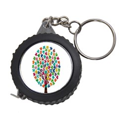 Tree Share Pieces Of The Puzzle Measuring Tape