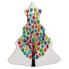 Tree Share Pieces Of The Puzzle Christmas Tree Ornament (two Sides) by Simbadda