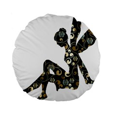 Fairy Fantasy Female Fictional Standard 15  Premium Flano Round Cushions by Simbadda