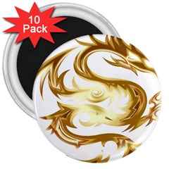 Dragon Animal Beast Creature 3  Magnets (10 Pack)