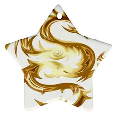 Dragon Animal Beast Creature Star Ornament (two Sides) by Simbadda