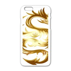 Dragon Animal Beast Creature Apple Iphone 6/6s White Enamel Case by Simbadda